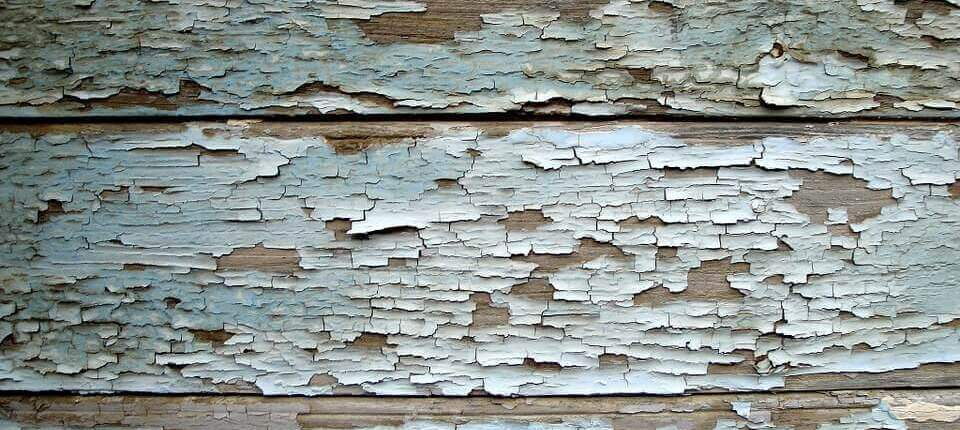 photo of peeling paint