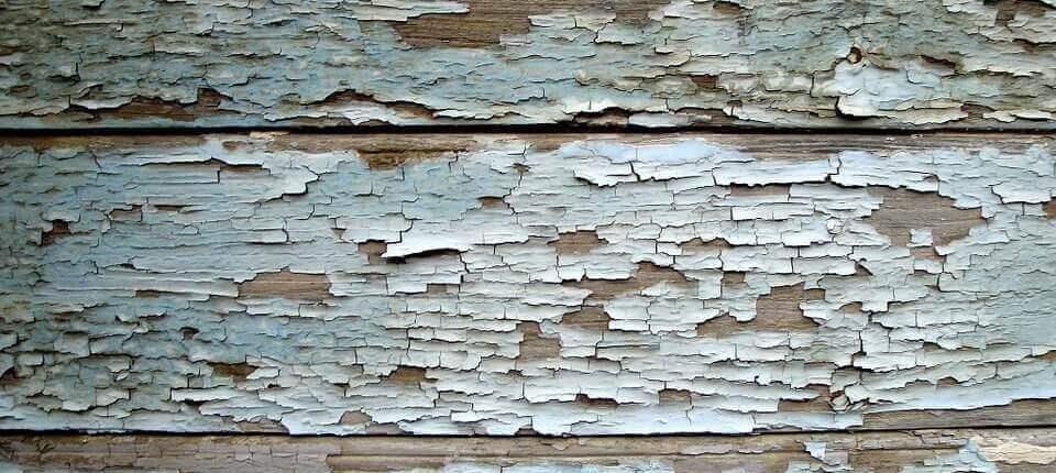 photo of peeling paint
