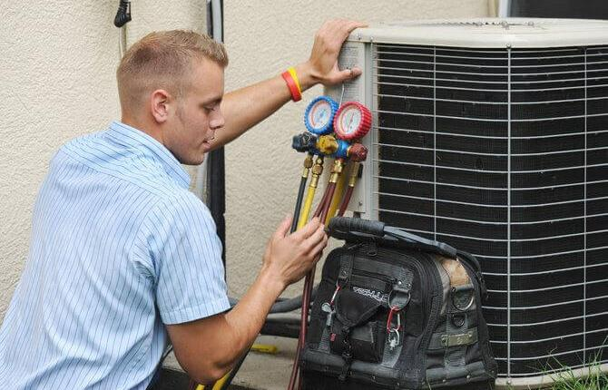 photo of air conditioning technician
