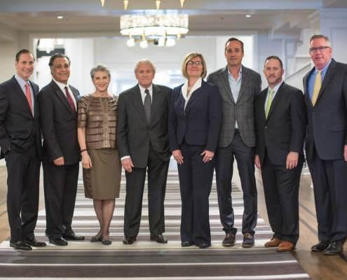 From left: Philip White, Mark Attarha, Nahid Nassiri, Bill Bullock, Heidi Pay, Micheal Dreyfus, Francis X. Santangelo, Kevin Paterson