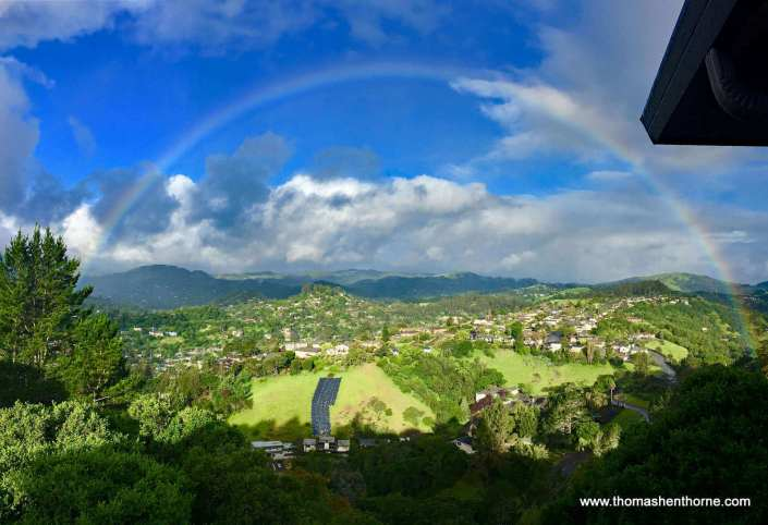 Rainbow in Fairhills Neighborhood of San Rafael by Jim Tyson