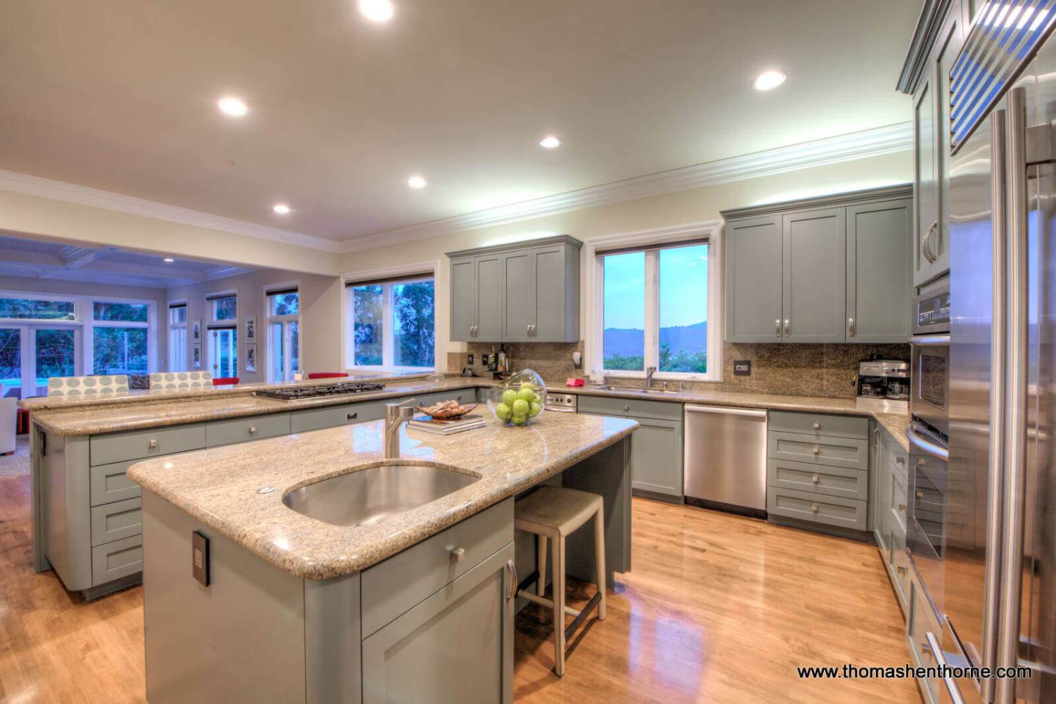 Kitchen with granite counters