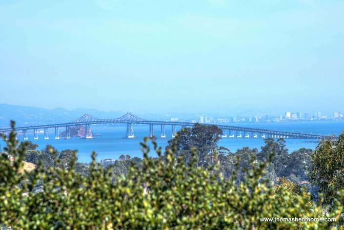 View of Richmond San Rafael Bridge from deck