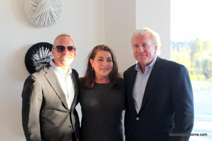 Thomas Henthorne with Lydia Sarkissian and Bill Bullock