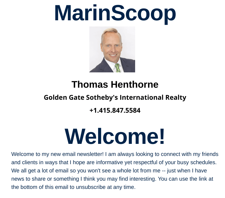 Marin Scoop Newsletter