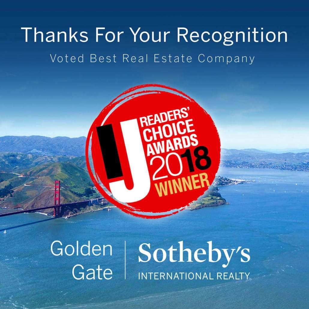 Golden Gate Sotheby's Marin IJ Reader's Choice Awards Best Brokerage