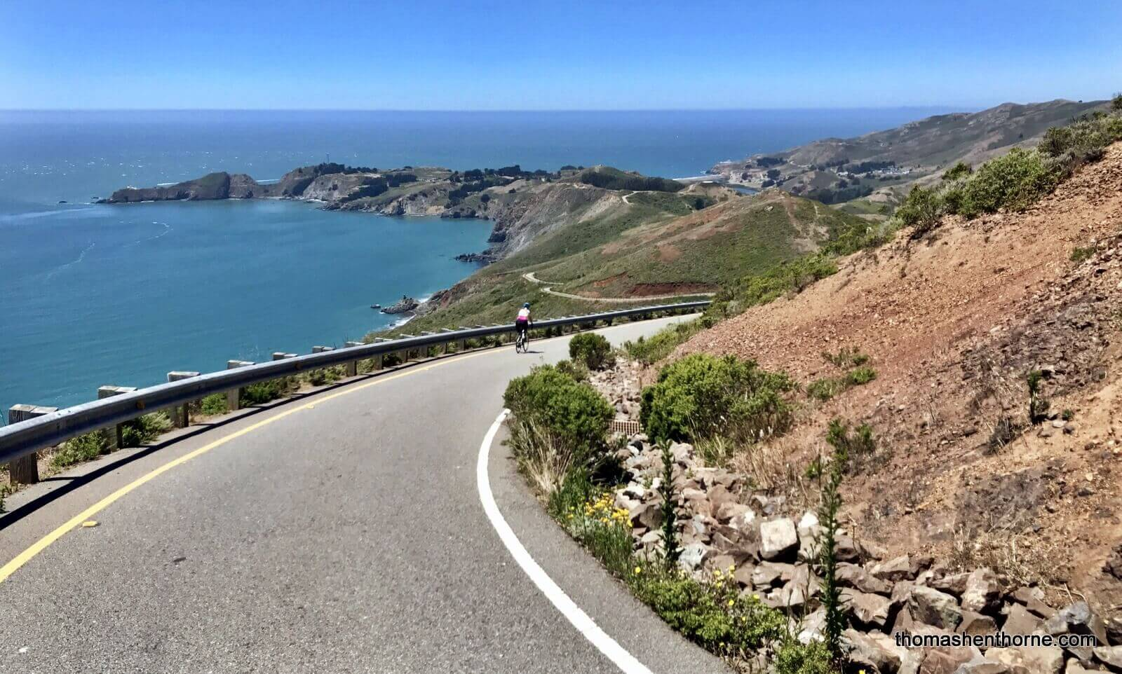 Biking in the Marin Headlands