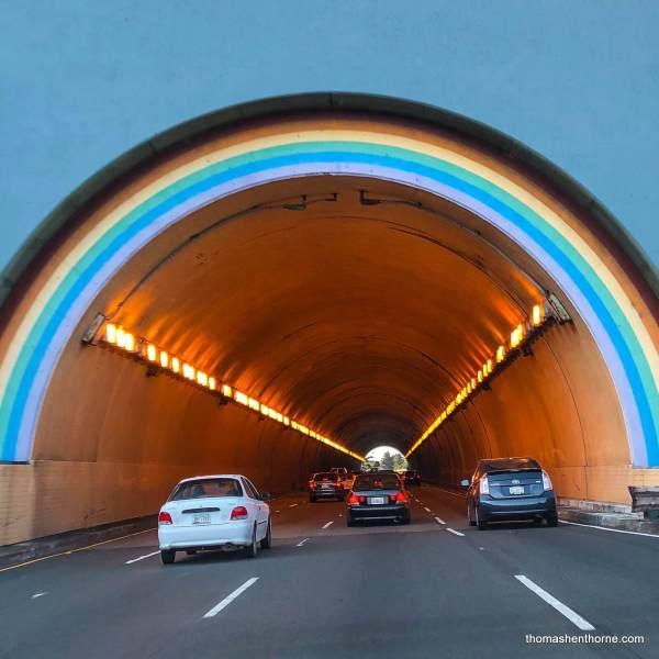 Rainbow Tunnel aka the Robin Williams Tunnel Marin County
