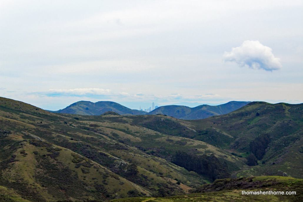 View of San Francisco Skyline from Fox Trail at Tennessee Valley