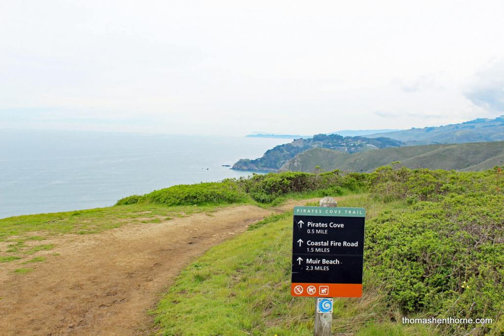 Intersection of CoastalTrail and Pirates Cove Trail