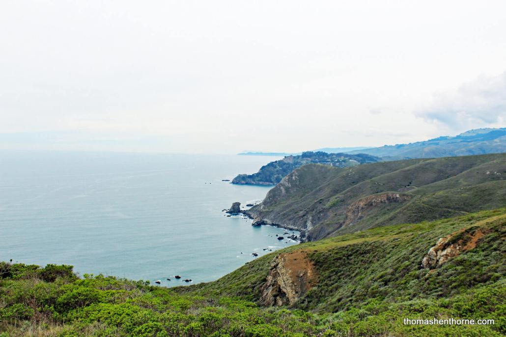 View of Bolinas Point and Point Reyes in Distance