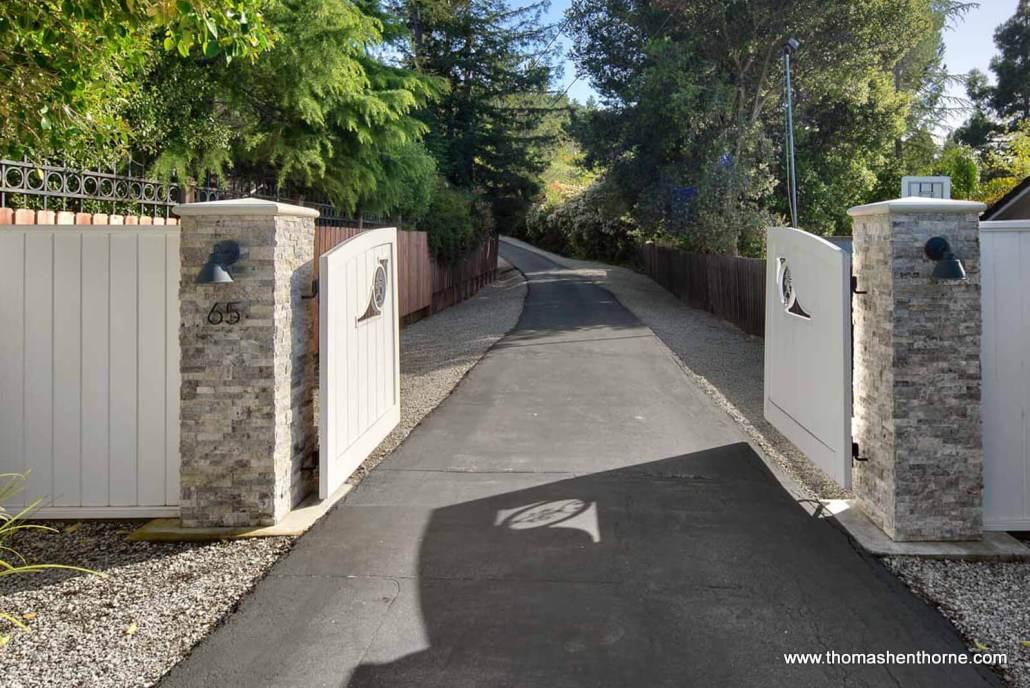 65 Los Ranchitos Road San Rafael Front Gate