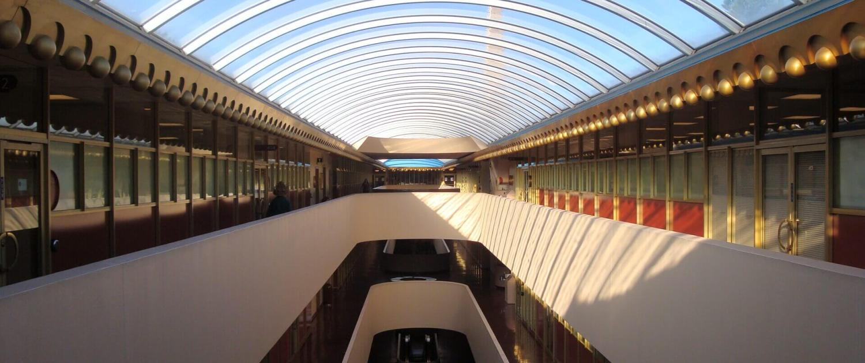 Marin County Civic Center interior hallway