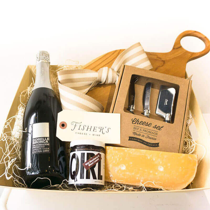 Fisher's Wine and Cheese Basket
