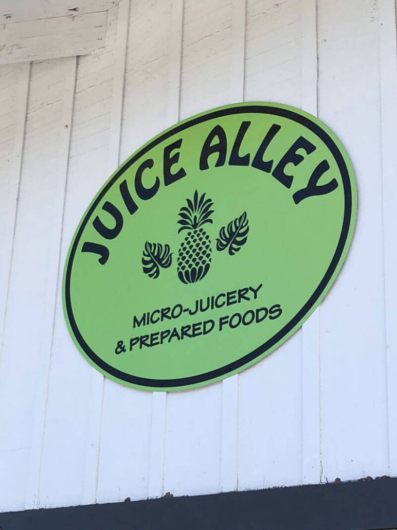 Juice Alley Sign