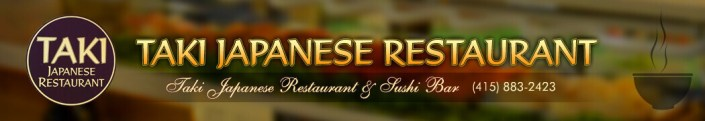 Taki Japanese Restaurant logo banner