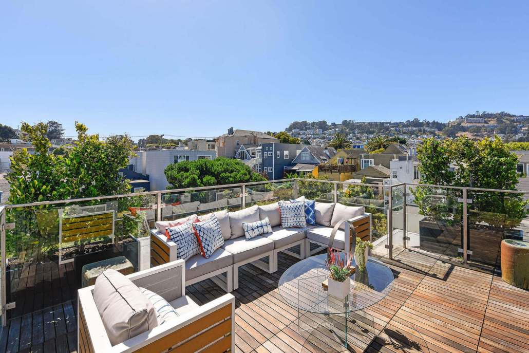 Rooftop deck in San Francisco