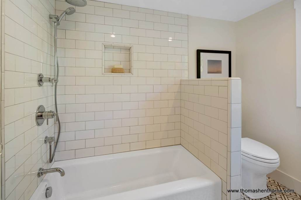 Bathroom with tile and bathtub
