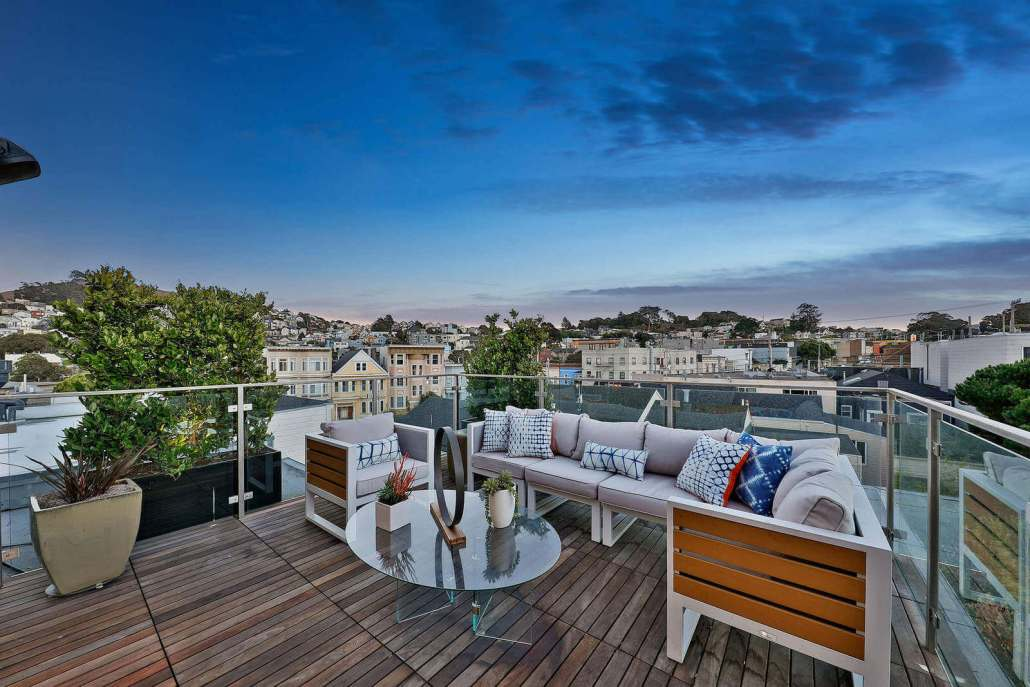 Roof view deck in San Francisco