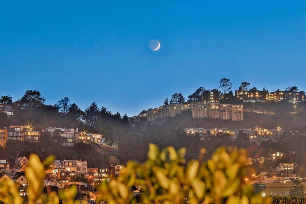 View of San Francisco hillside homes