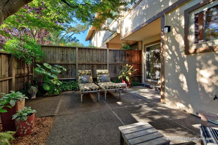 Tranquil, Shaded Back Patio