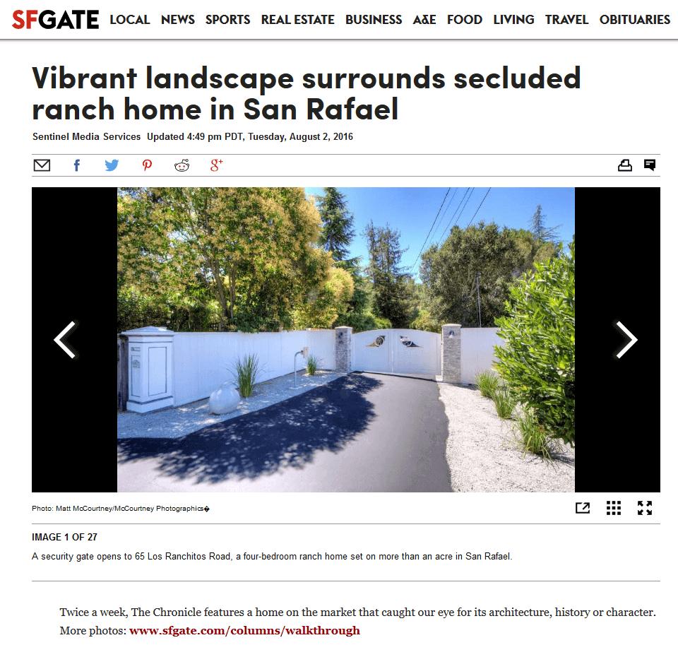 65 Los Ranchitos SF Gate Article