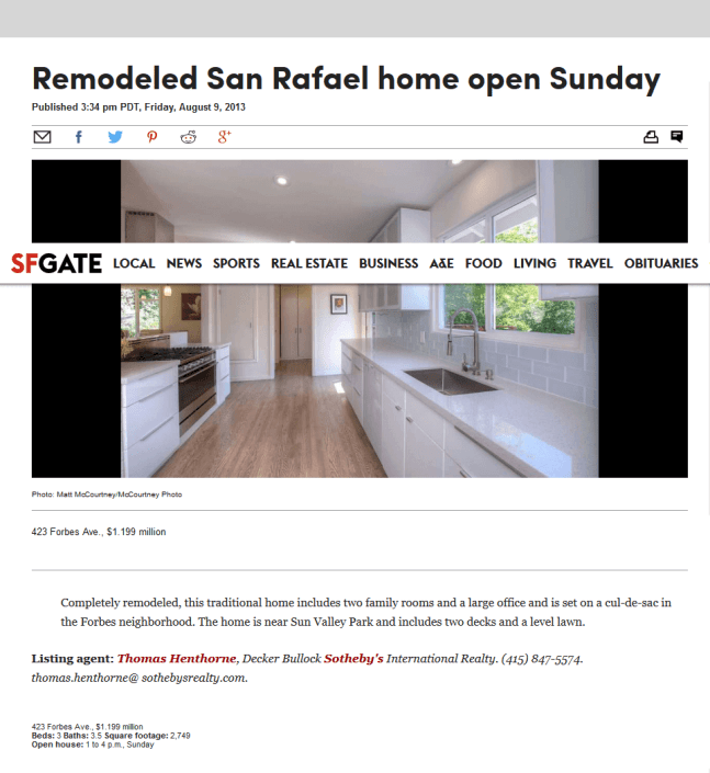 423 Forbes SF Gate Article
