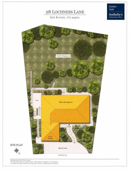 28 Lochness Lane San Rafael Site Plan