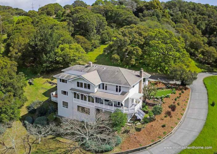 Aerial View of 208 Benson Circle in Mill Valley