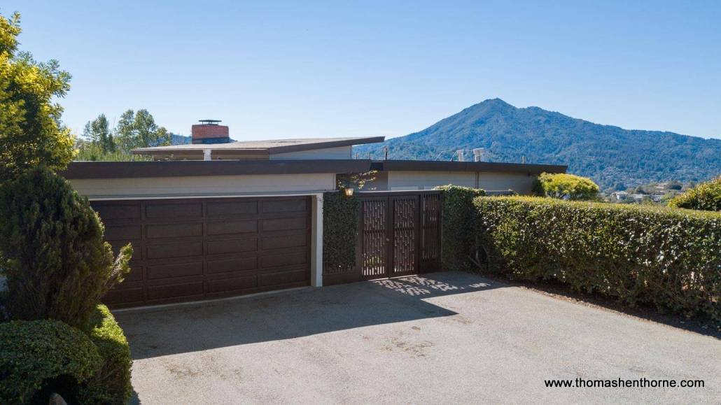 Midcentury Modern Home with Mt. Tam in Background