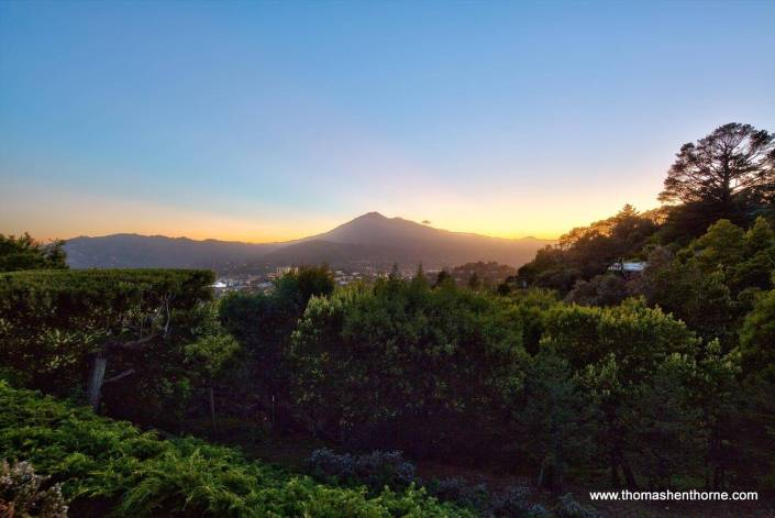 Mount Tamalpais at twilight