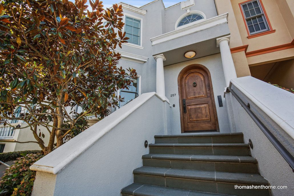 Stairway to home in San Francisco's Sea Cliff neighborhood