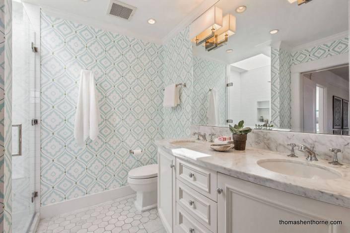 Bathroom with dual vanity