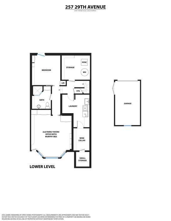 Floorplan lower level 257 29th Avenue