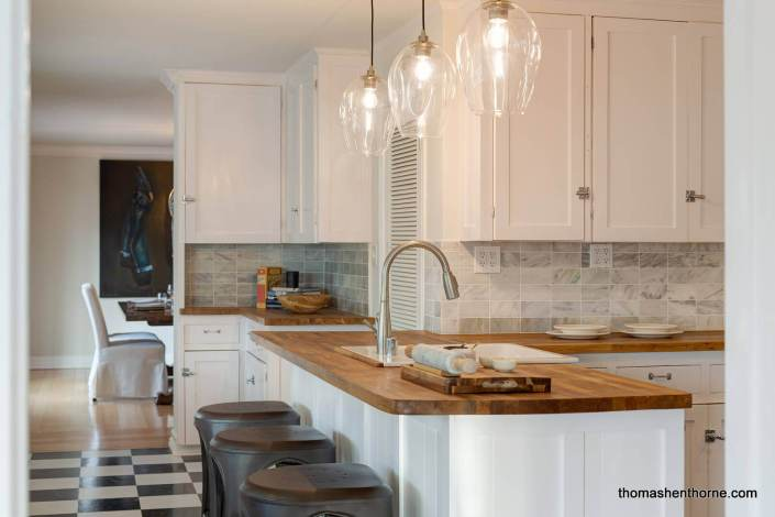 Kitchen with butcherblock countertops