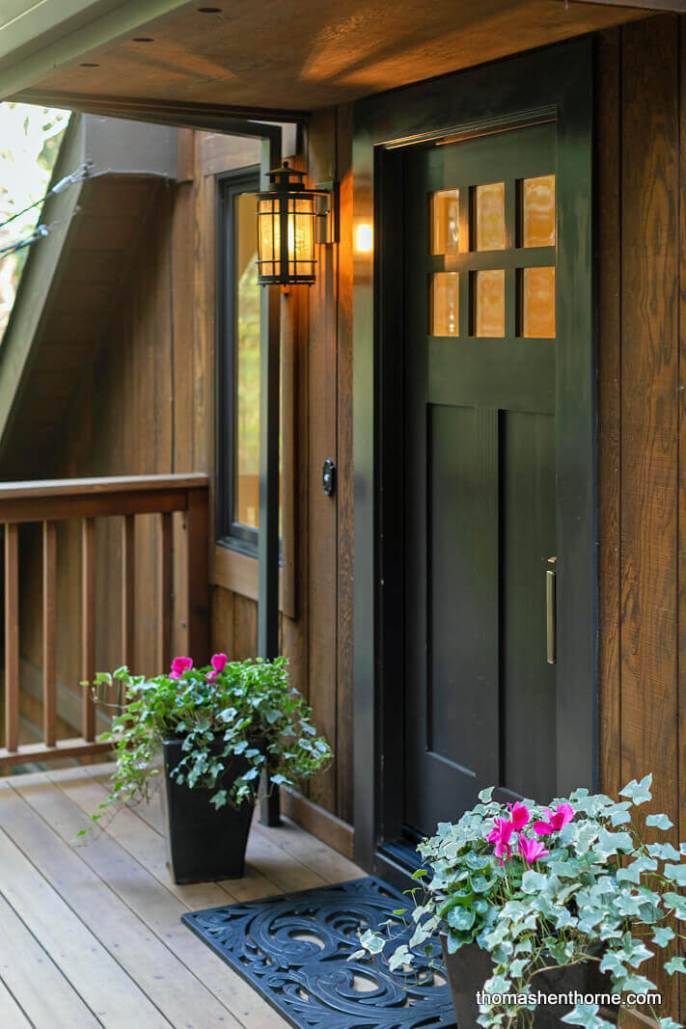 Front door of 481 Cascade Drive Mill Valley