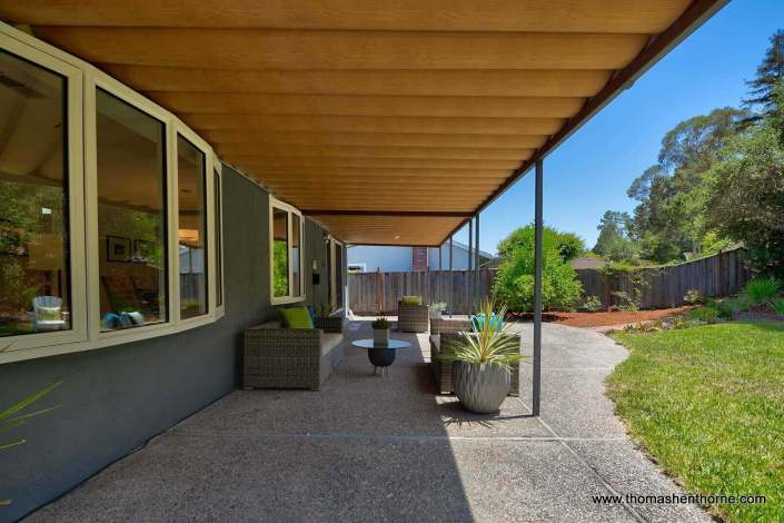 Patio of home