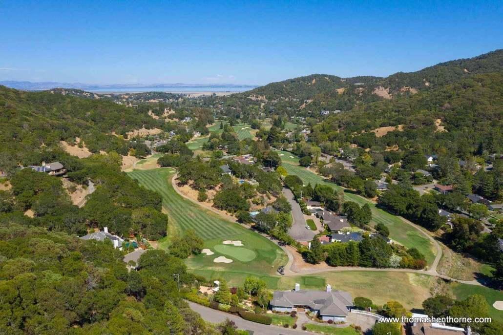 aerial view of Marin Country Club