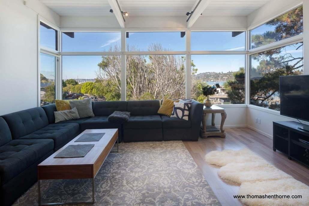 26 El Portal Sausalito living room