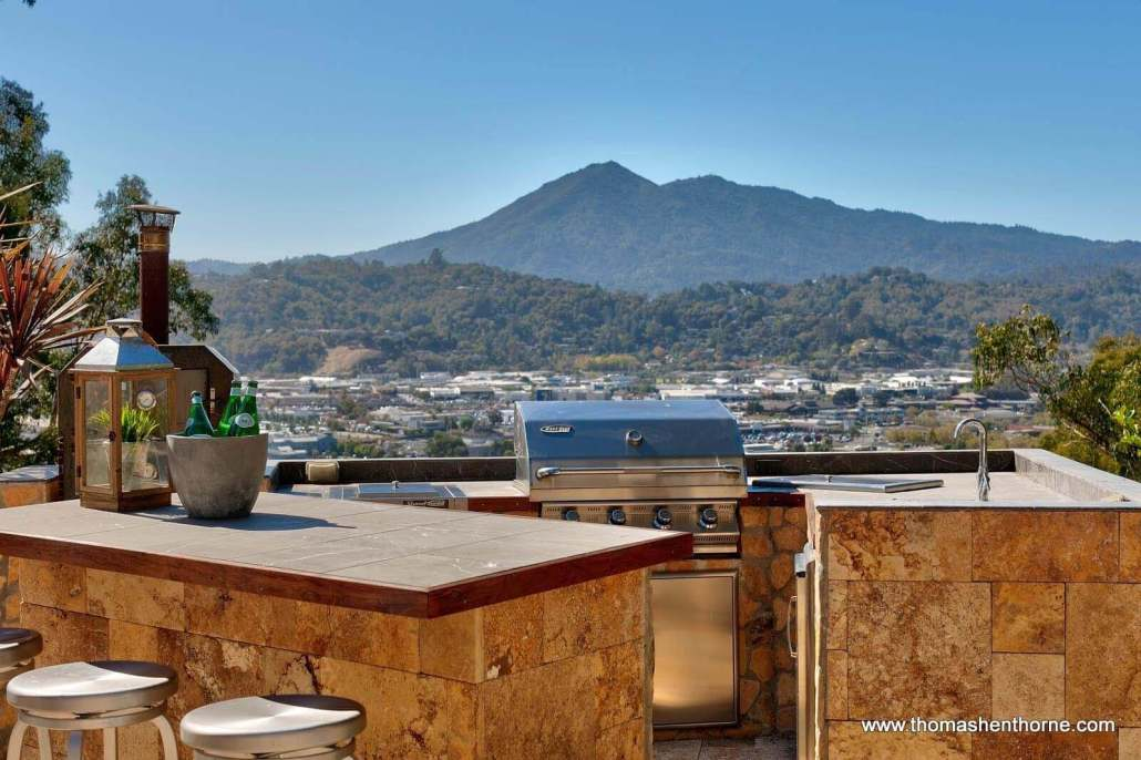 Mt. Tamalpais View from BBQ at 94 Deer Park Avenue in San Rafael