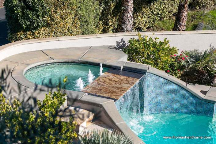 spa and waterfall pool