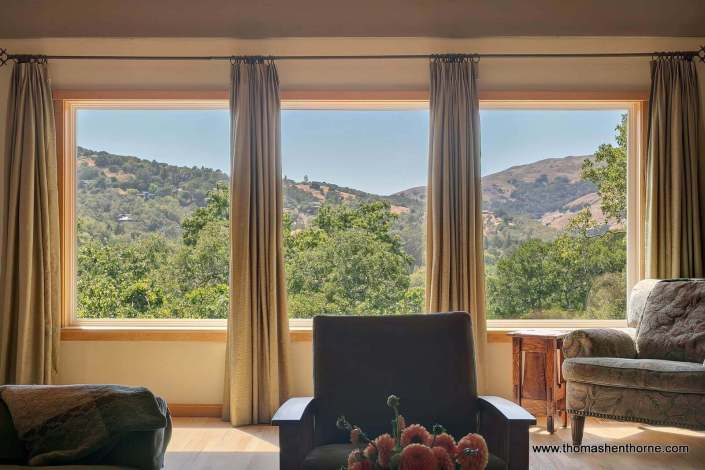 view of marin hills from home