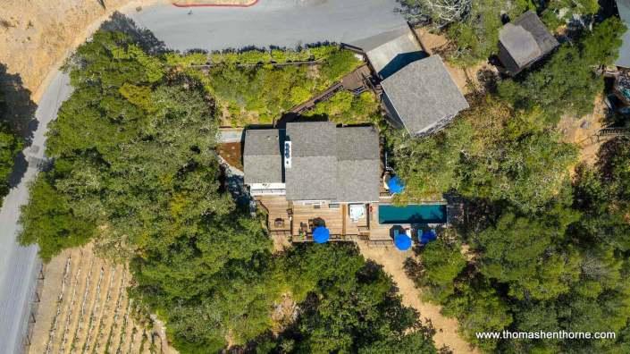 aerial view of 390 Fawn Drive San Anselmo