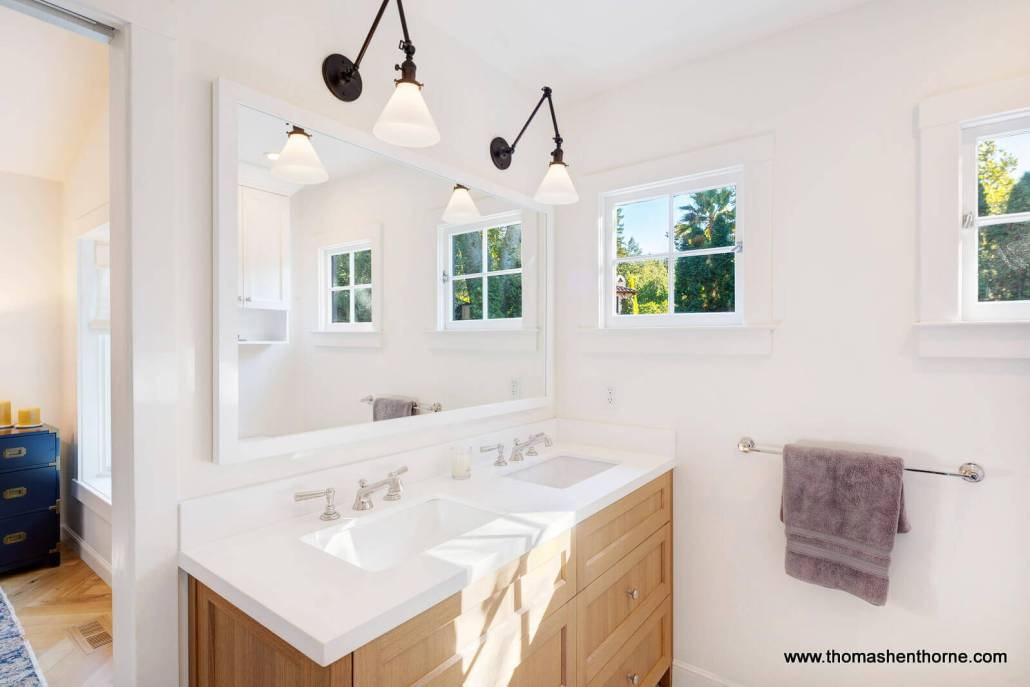 vanity with dual sinks