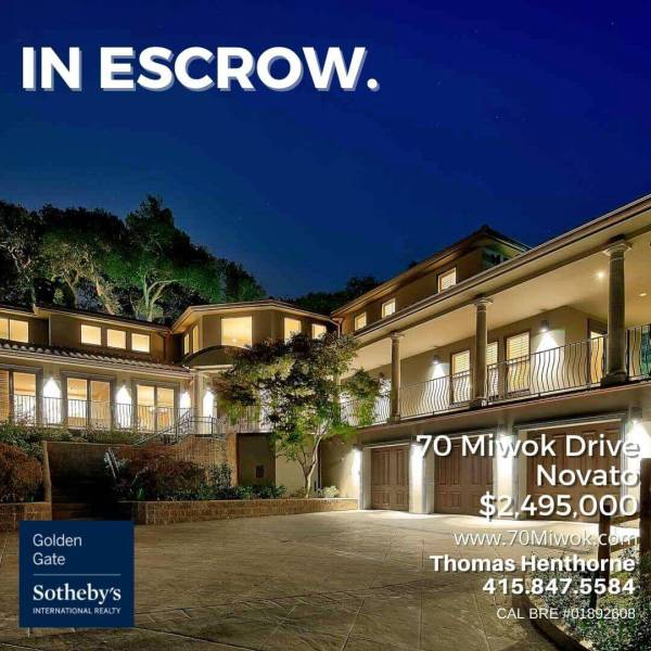 70 Miwok Drive in escrow
