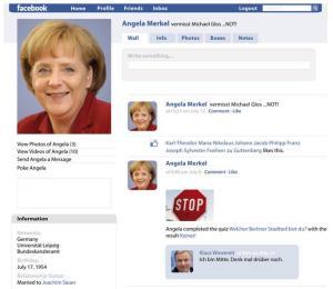 Facebook Profil Angela Merkel