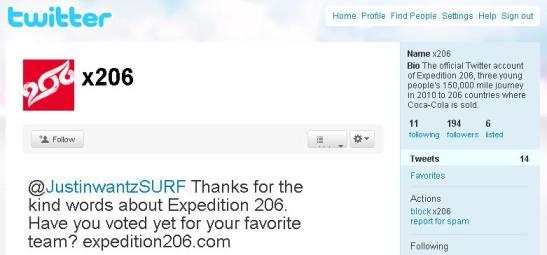 Twitter-Profil von X206