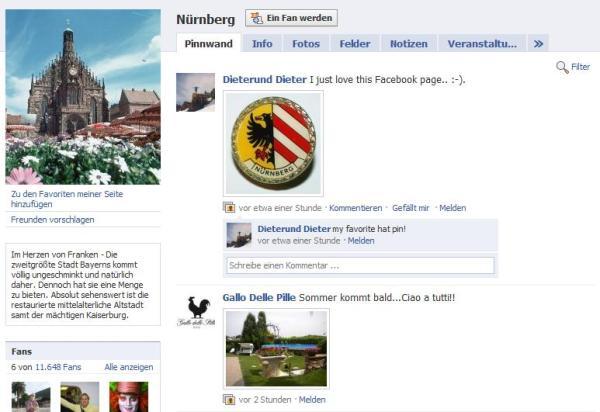 Facebook Fanpage Nürnberg