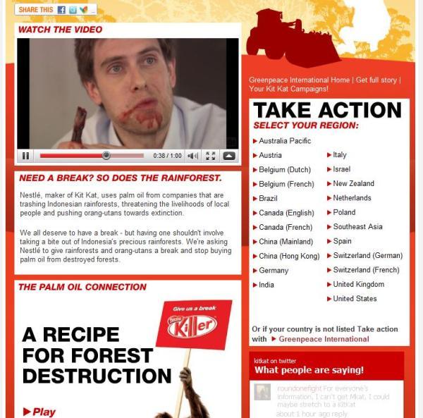 Greenpeace Homepage