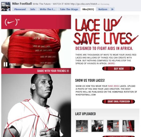 Nike Football auf Facebook - Nike(RED)